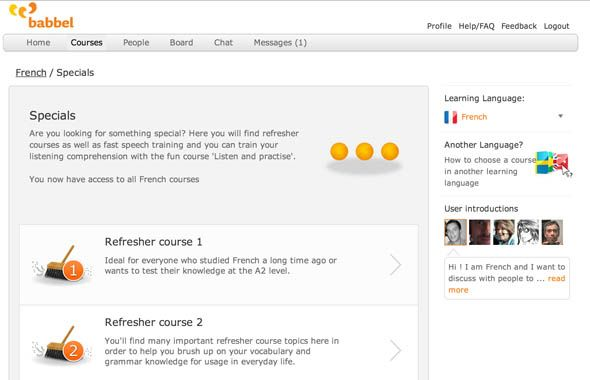 Babbel: An Interactive Tool for Budding Linguists refresher