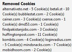 remove firefox cookies