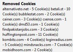 remove firefox cookies
