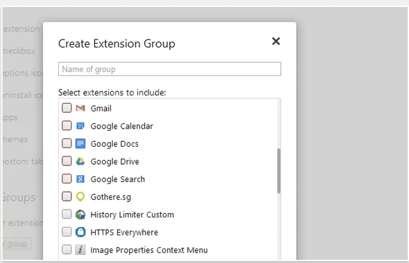 extension manager for chrome
