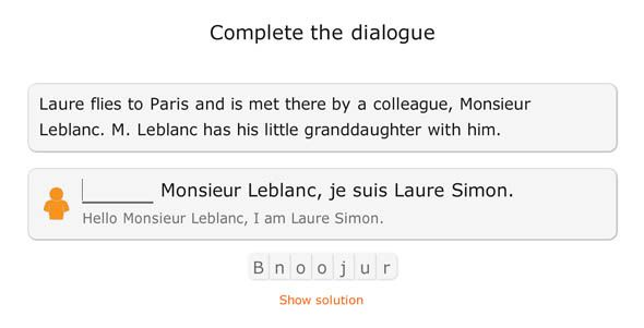 Babbel: An Interactive Tool for Budding Linguists special