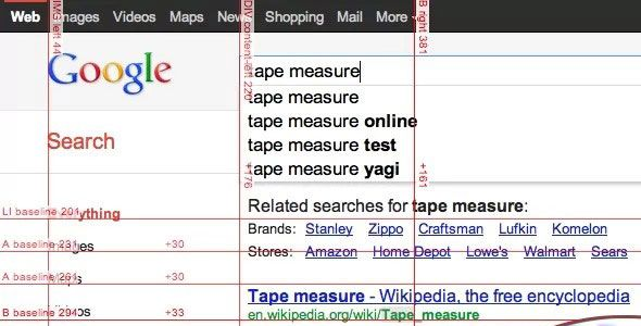 tape1   Tape for Chrome: Pixel Perfect Guides & Rulers For Web Developers