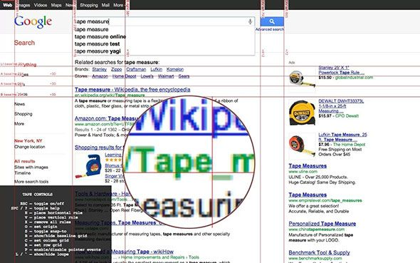 tape2   Tape for Chrome: Pixel Perfect Guides & Rulers For Web Developers