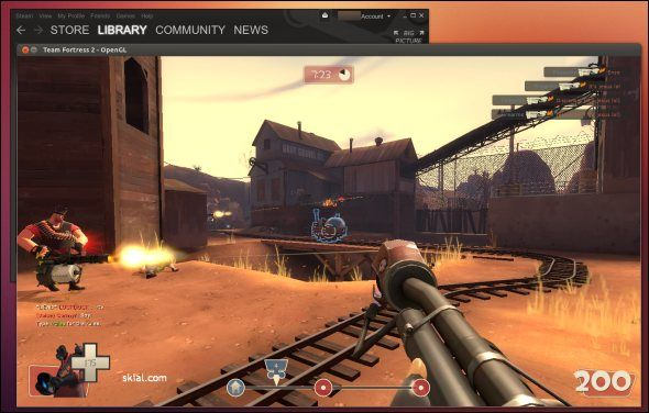 team fortress 2 and steam for linux