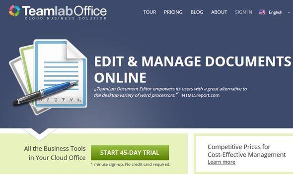 teamlab   TeamLab: A Comprehensive Online Document Editor Based On HTML 5