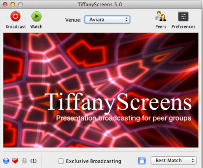 tiffanyscreens2   TiffanyScreens: Easy To Use, Cross Platform Screen Sharing [Mac, Windows, Linux]