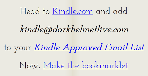 send articles to your kindle