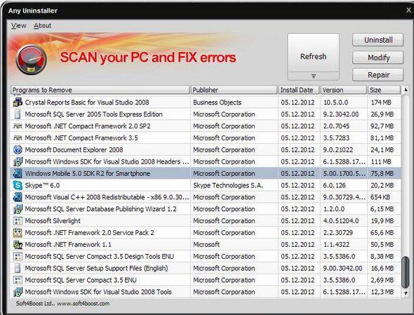 completely uninstall windows programs