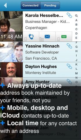 update address book contacts