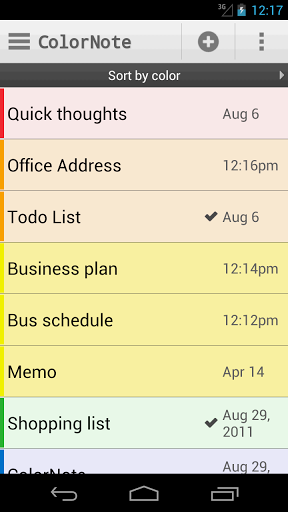23   Color Note: Easily Take Notes & Manage To Do Lists [Android]