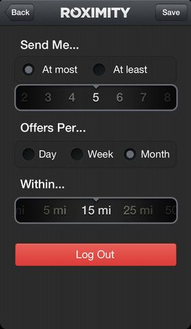 Roximity: Delivers Relevant Offers & Deals to You Based on Your location [iOS] 41