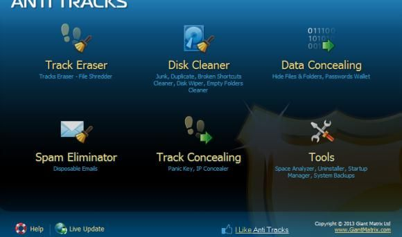 Anti Tracks1   Anti Tracks Free: Delete All Traces Of Your Online Activity