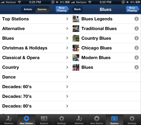 Browse   Listen To Your Favorite Music With Jango Personalized Radio [iPhone]