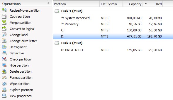 hard drive partition manager
