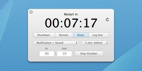schedule shutdown mac os
