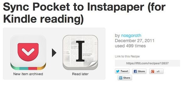 Supercharge Your Pocket Experience With These IFTTT Recipes Pocket Kindle1
