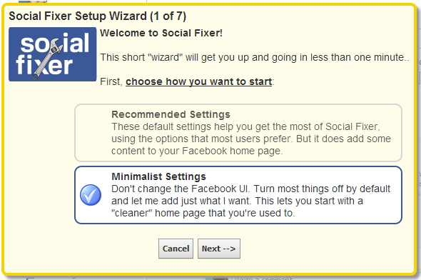 Clean Up Your Facebook News Feed With Social Fixer Filtering [Weekly Facebook Tips] Social Fixer Setup Wizard