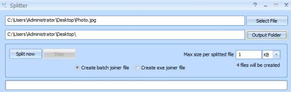 split file into smaller files