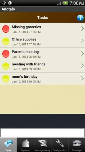manage expenses android
