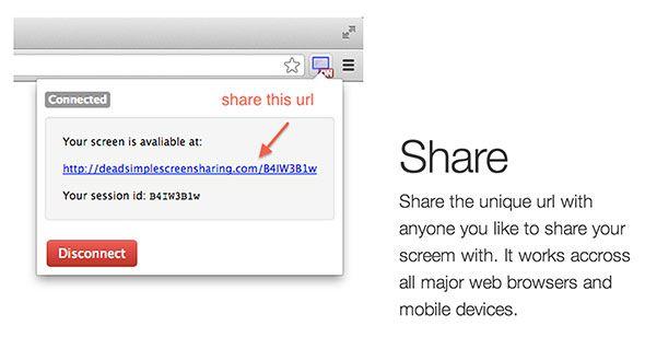 dead simple screen sharing