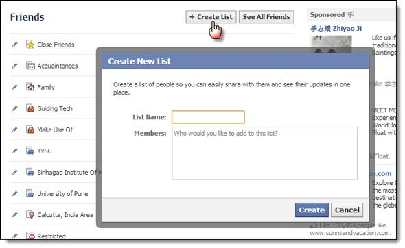 Circles, Everywhere: Streamline Social Networking With Lists facebook lists08