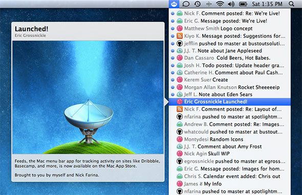 Quickly Check RSS Headlines With Fresh Feed for Mac feeds mac main