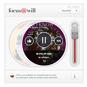 Focus@Will: A Streaming Service Designed To Help You Stay On Task