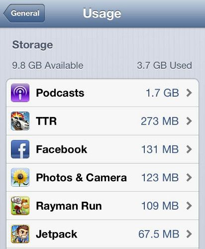 iphone storage space