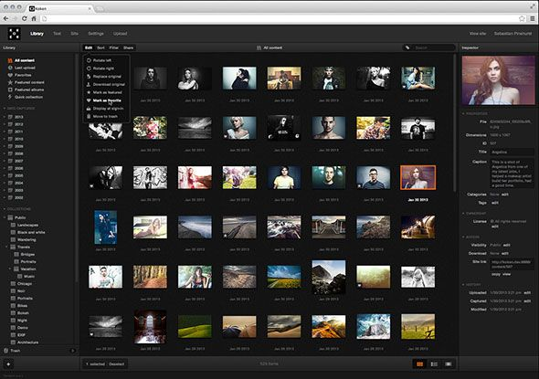 content management system for photographers