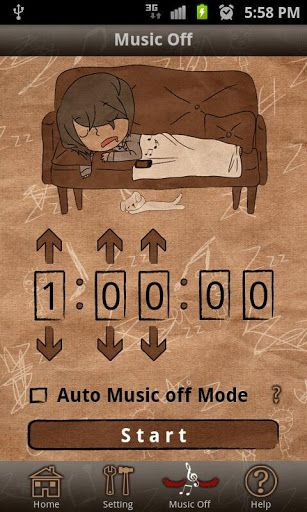 musicoff2   Music Off: Turn Your Music Off When You Fall Asleep [Android 2.2+]
