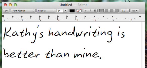 handwriting font