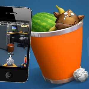 Beat Your Office Frustrations By Aiming For The Waste Basket On Paper Toss 2.0 [iOS]