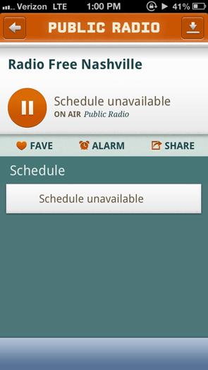 listen to public radio on iphone