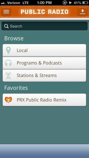 public radio player