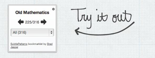 subtlepatterns1   SubtlePatterns Bookmarklet: Revise Your Websites Design
