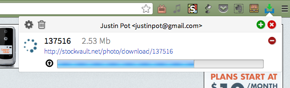 Download To Dropbox: Save Any File Directly To The Cloud [Chrome] uploadtodropbox uploading