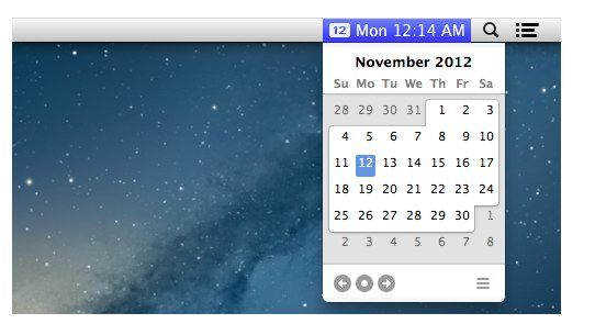 calendar for menu bar mac
