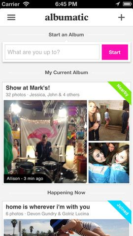 make photo album with nearby friends