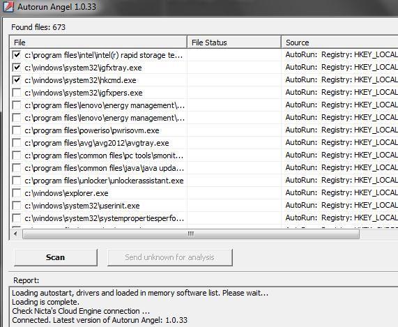 analyze running processes