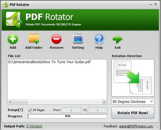 pdf pages rotated