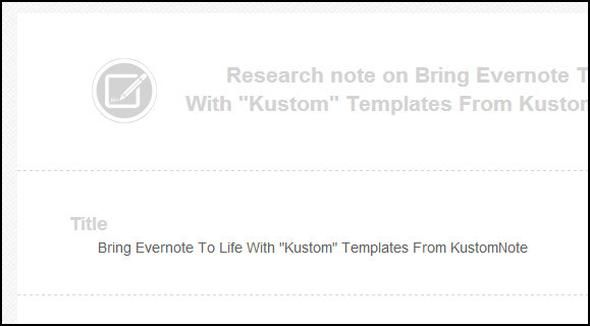 KustomNote: Experience Evernote Like Never Before With Custom Templates Icon Stamps In Note