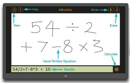 Inkulator   Inkulator: Get Handwritten Mathematical Expressions Detected & Computed On Windows 8 & RT