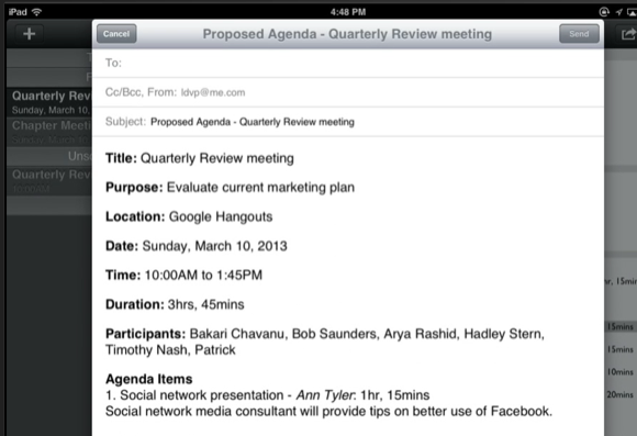 create meeting agenda