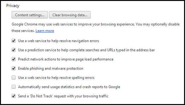 How To Become A Chrome Power User, Part 2: Bookmarks, Settings & Extensions Settings Privacy