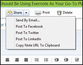 use evernote for everything