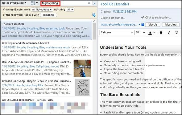 20 Evernote Search Features You Should Be Using Tag search