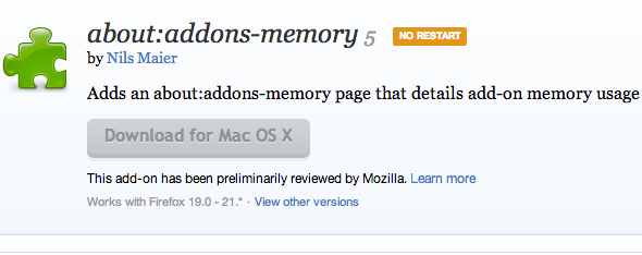 how much memory is firefox using