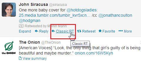 classic retweet chrome