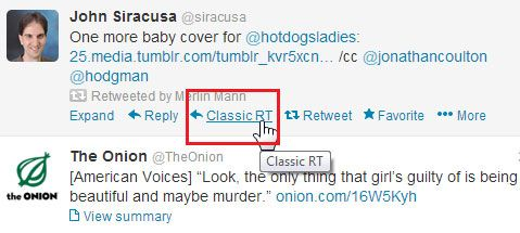 classic retweet   Classic Retweet: Get a Classic Retweet Method [Chrome]