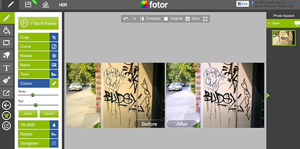 browser based photo editing